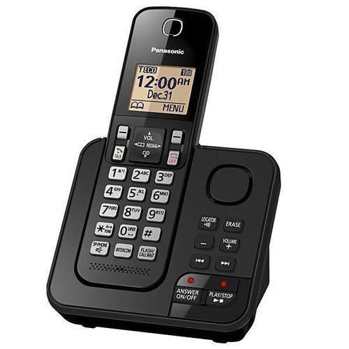 Telefone Sem Fio Panasonic TGC360 com Atendimento Digital - Preto