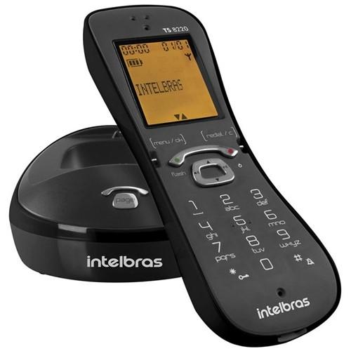 Telefone Sem Fio Preto TS 8220 4120018 Intelbras