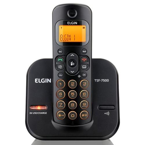 Telefone Sem Fio Preto TSF 7500 Elgin