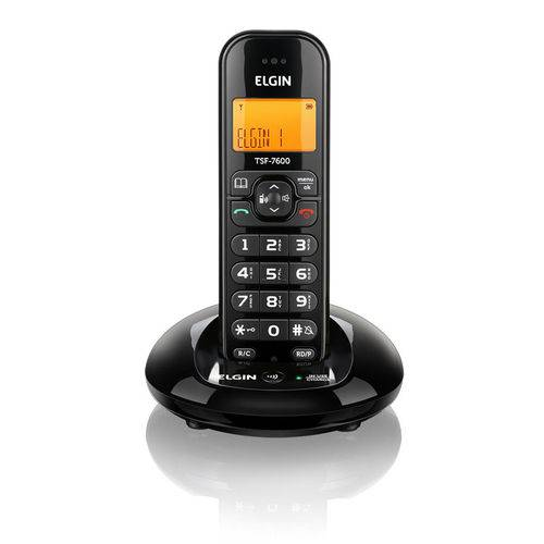 Telefone Sem Fio Preto Tsf7600 Elgin