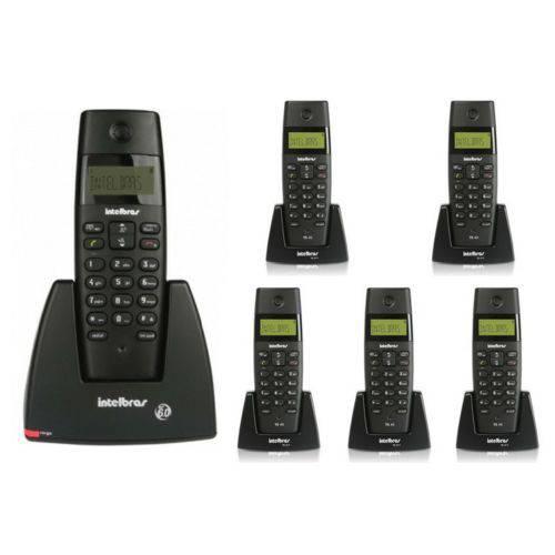 Telefone Sem Fio Ts 40 Id + 5 Ramal Ts 40 R Intelbras