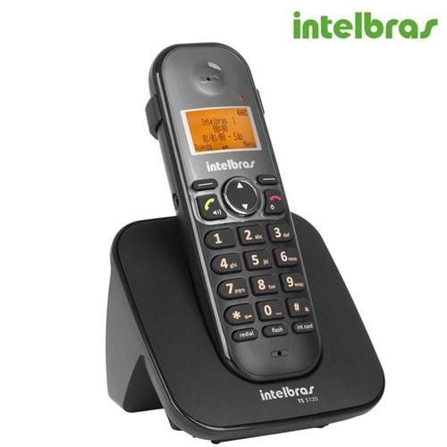Telefone Sem Fio TS 5120 Preto 4125120 - Intelbras