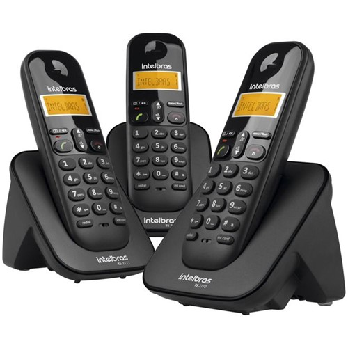 Telefone Sem Fio TS3113 Preto 4123103 Intelbras