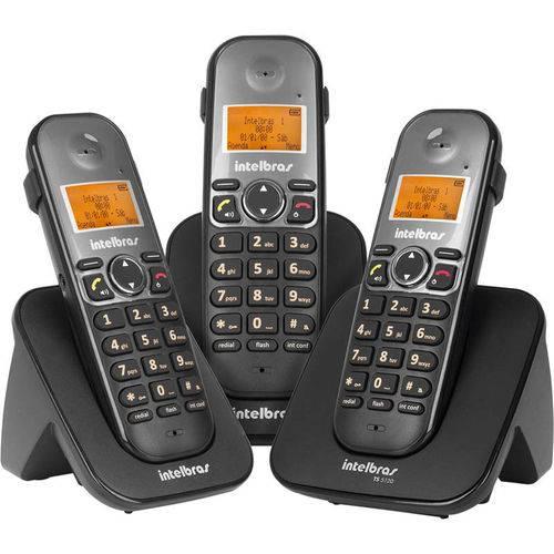 Telefone Sem Fio Ts5123 + 2 Ramais Preto Intelbras