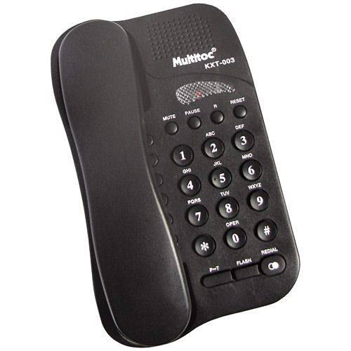 Telefone Studio com Fio - Preto - Multitoc