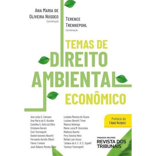 Temas de Direito Ambiental Economico - Rt