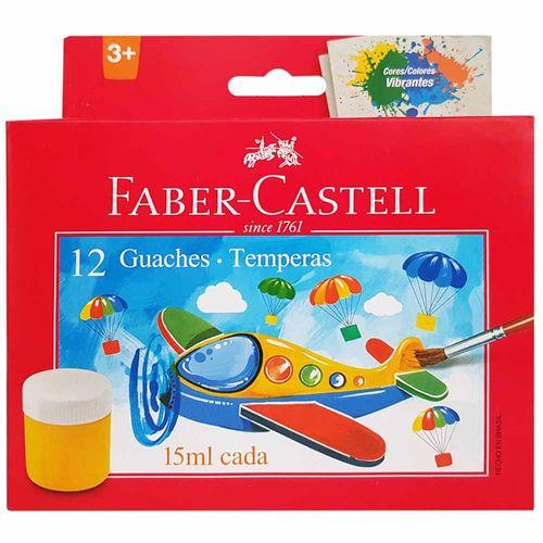 Tempera Guache 12 Cores Faber Castell 1009183