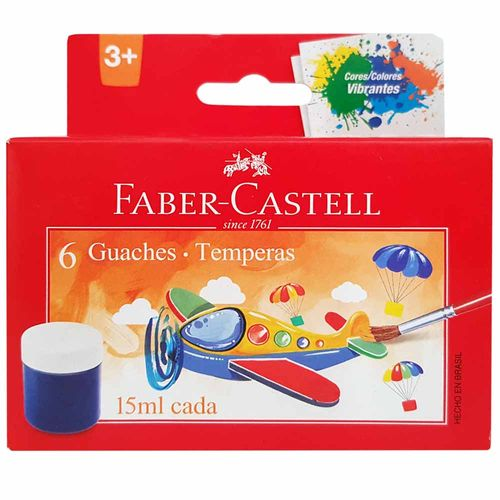 Tempera Guache 6 Cores Faber Castell 900522
