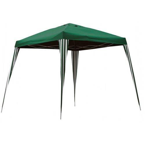 Tenda Gazebo Dobrável Articulada 3x3 Base 2,4x2,4 Topo Verde Belfix