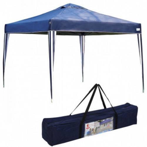 Tenda Gazebo X-flex Dobravel Articulada 3x3 Mts Base e Topo Azul Mor
