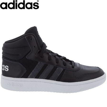 Tênis Adidas Cano Alto Hoops 2.0 Mid Preto