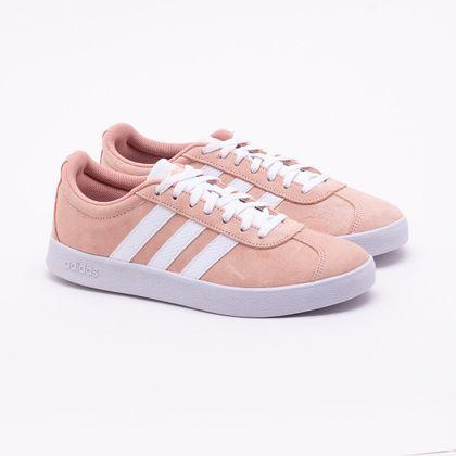 Tênis Adidas VL Court 2.0 Salmão Feminino 34