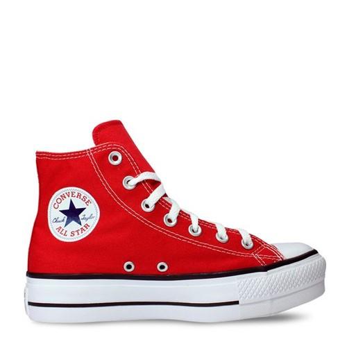 Tênis All Star Chuck Taylor Platform Vermelho Preto Branco