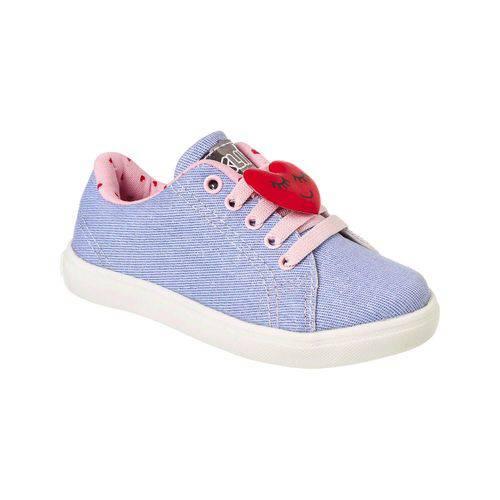 Tênis Baby Gloss Street Jeans / Rosa (klin)