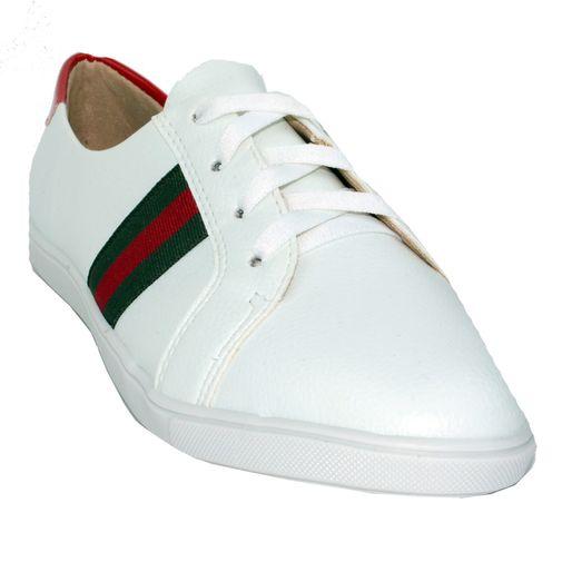 Tênis Basic Branco e Vermelho 35
