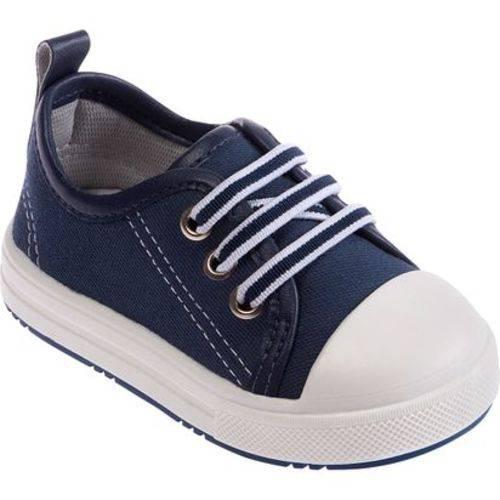 Tênis Bebê Menino Azul Marinho e Branco-Pimpolho Numero 16