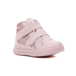Tênis Cano Alto Flik Infantil para Bebê Menina - Rosa 22
