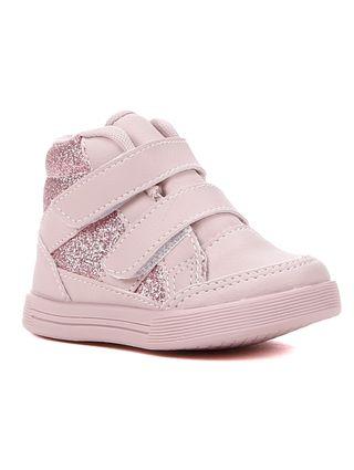 Tênis Cano Alto Flik Infantil para Bebê Menina - Rosa