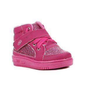 Tênis Cano Alto Infantil para Bebê Menina - Rosa Pink 22