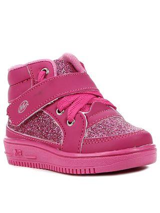 Tênis Cano Alto Infantil para Bebê Menina - Rosa Pink