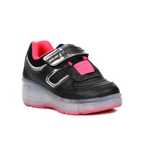 Tênis Casual Brink Roller Evolution Infantil para Menina - Rosa Pink/preto 35