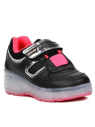 Tênis Casual Brink Roller Evolution Infantil para Menina - Rosa Pink/preto
