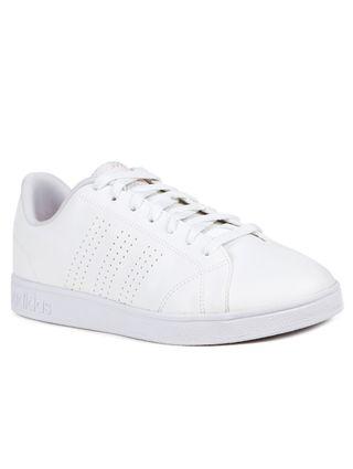 Tênis Casual Feminino Adidas Advantage Clean Branco/coral