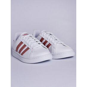 Tênis Casual Feminino Adidas Grand Court Branco/rosa 38