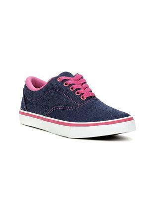Tênis Casual Feminino Azul/rosa