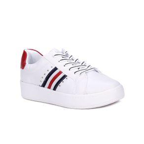 Tênis Casual Feminino Kolosh Branco/vermelho 35