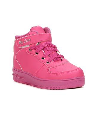 Tênis Casual Infantil para Bebê Menina - Rosa Pink