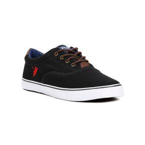 Tênis Casual Masculino Polo Shoes Vintage Preto 39