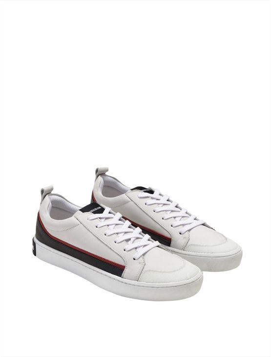 Tenis Ckj Masc Couro Low Skate Sneaker - Branco 2 - 38