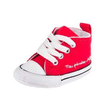 Tenis Converse All Star Chuck Taylor My First Vermelho/Branco/Branco 18