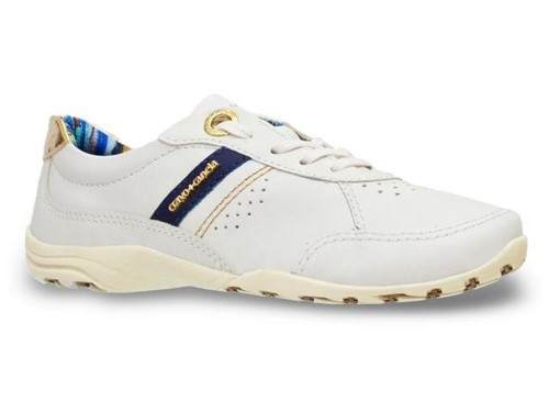Tenis Cravo Canela Casual Branco Azul