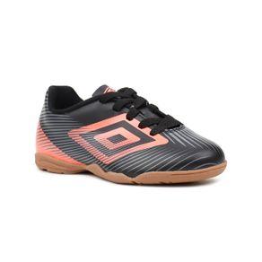 Tênis de Futsal Infantil para Menino Umbro Speed Ii Jr Preto/coral 34