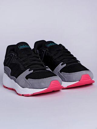 Tênis Esportivo Feminino Adidas Chaos Preto/rosa
