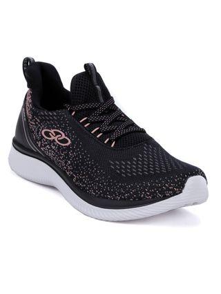 Tênis Esportivo Feminino Olympikus Preto/rose