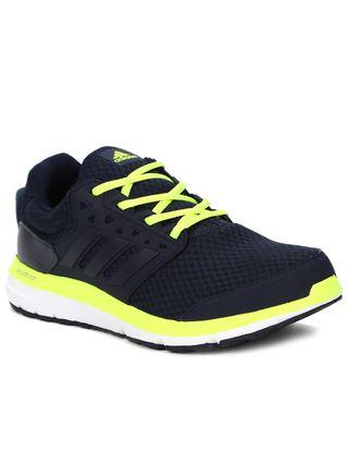 Tênis Esportivo Masculino Adidas Galaxy 3.1 M Azul Marinho/amarelo
