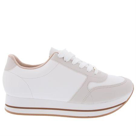 Tênis Feminino Flatform Moleca Branco