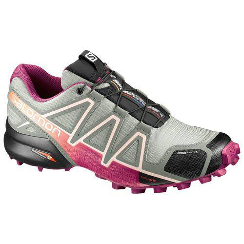 Tênis Feminino Speedcross 4 CS 392406 Cinza/Pink - Salomon - 35