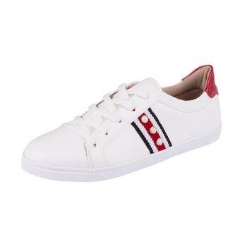 Tênis Firezzi Casual Branco/Vermelho 39