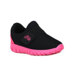 Tênis Flik Infantil para Bebê Menina - Preto/rosa 22