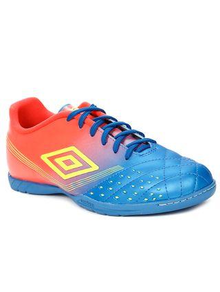 Tênis Futsal Masculino Umbro Fifty Indoor Verde/coral/azul