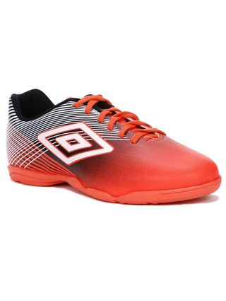 Tênis Futsal Masculino Umbro Slice Indoor III Coral/preto/branco