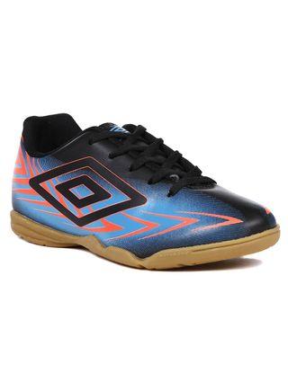 Tênis Futsal Umbro Speed III Infantil para Menino - Preto/azul