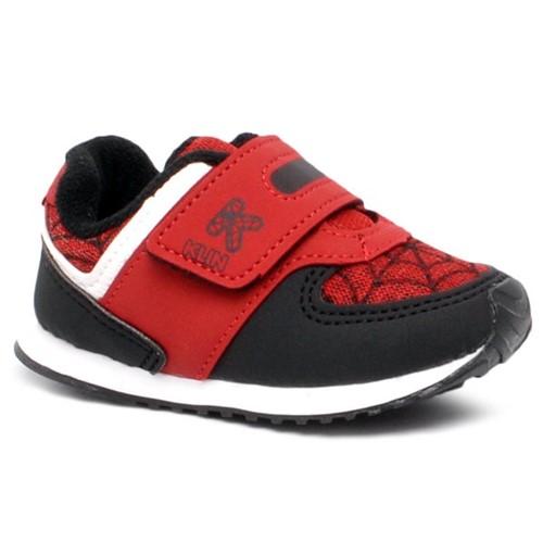 Tênis Homem-Aranha Infantil Klin 453053 Preto/Vermelho/Branco