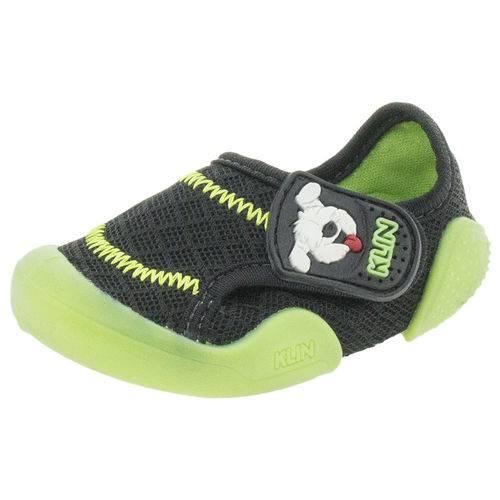 Tênis Infantil Baby New Confort Preto/verde Klin - 179006