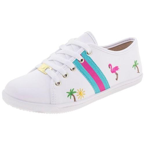 Tênis Infantil Feminino Branco Molekinha - 2097534