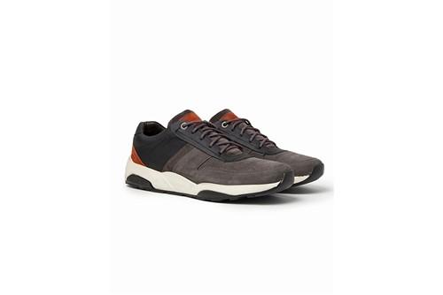 Tênis Jogging Couro Color - Cinza - 39